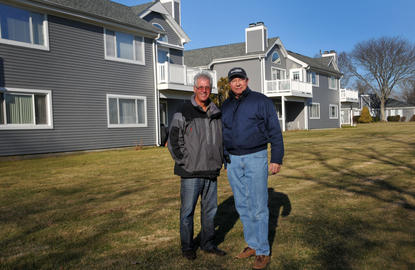 Harry Seid (left) and Bob Boettcher at Waterways at Bay Pointe