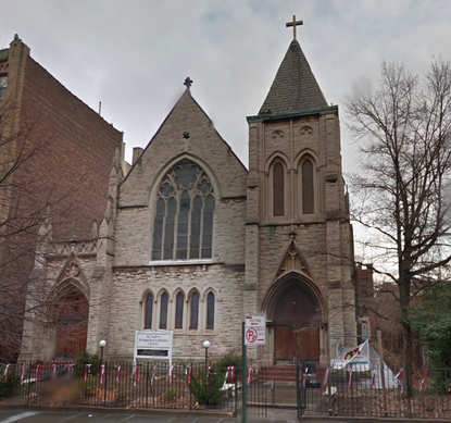 St. Luke's Evangelical Lutheran Church of Clinton Hill. Google Street View.