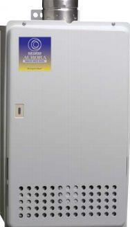 State Water Heaters' Aurora™ on-demand tankless gas water heater model GAX19400