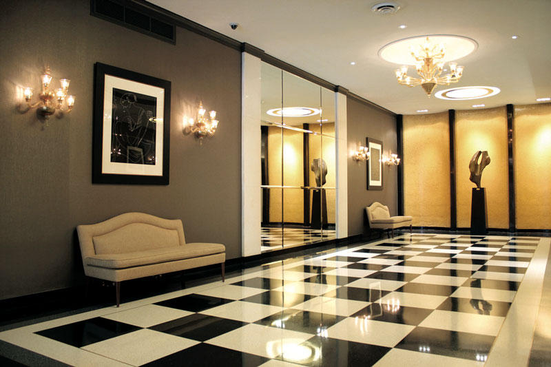 article apartment building lobby
